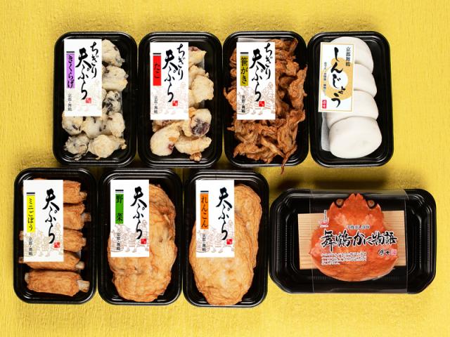 【秋冬限定】 舞鶴しんじょうと天ぷら6種かに物語セット (おでん種 ご家庭用セット)