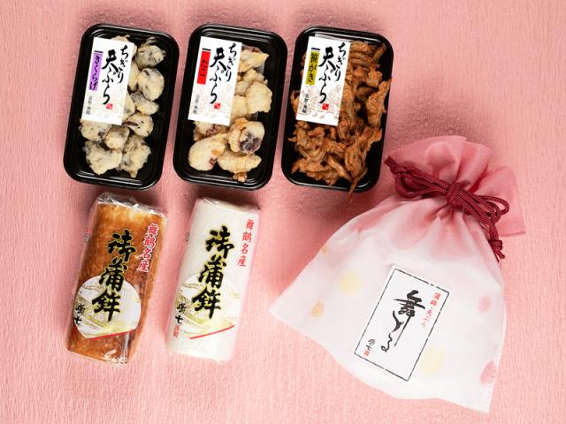 ぷちギフト桃 (御蒲鉾 ちぎり天3種)
