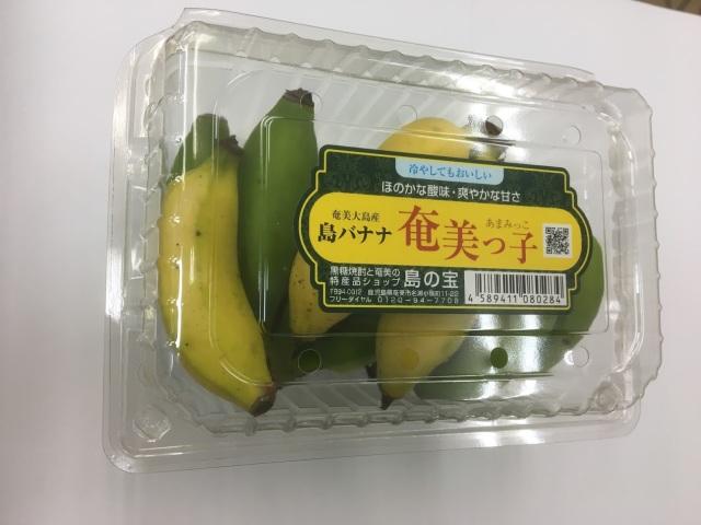 島バナナ奄美っ子500g(5~8本位)