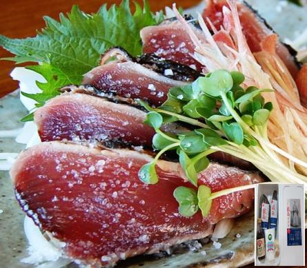 送料無料:完全わら焼き・まさに土佐の味 「龍馬タタキ」2節(約700g)・美味海230gセット