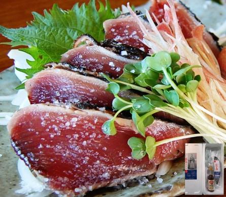送料無料:完全わら焼き・まさに土佐の味 「龍馬タタキ」1節(約350g)セット
