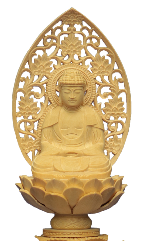 座釈迦-白木