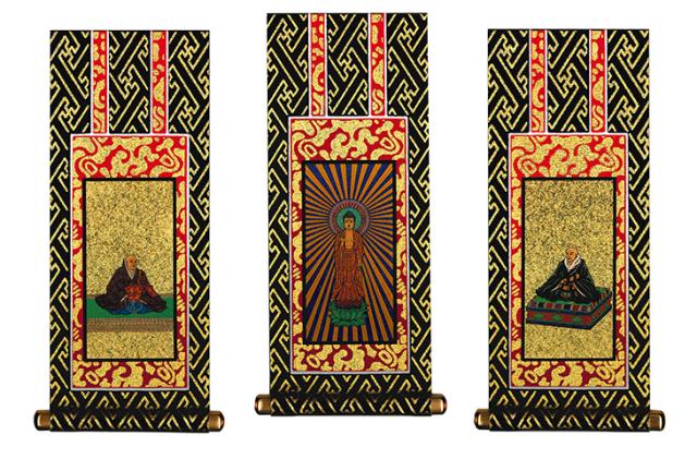 浄土真宗(西)-掛け軸-3幅-画像