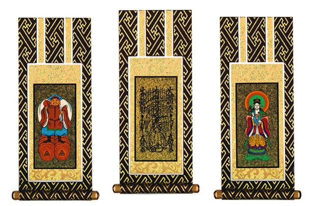 日蓮宗-掛け軸-3幅-画像