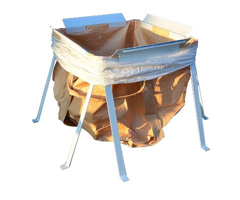 大型土のう作成補助器具 トンサポ