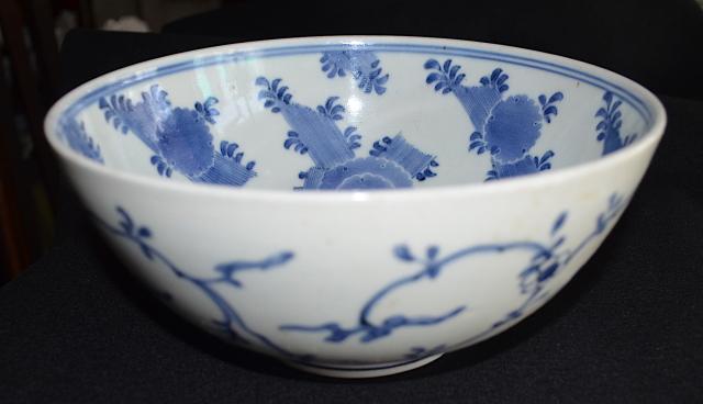 藍柿右衛門雪輪文鉢
