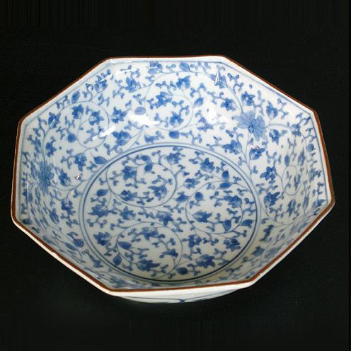 総花唐草八角鉢