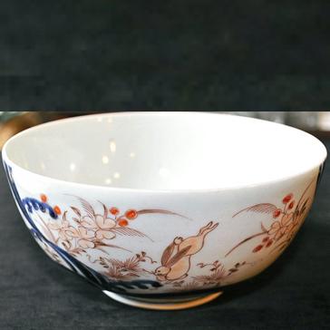 秋草,兎図鉢