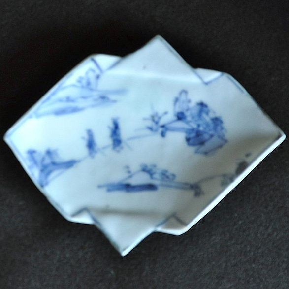 初期伊万里人物図小皿