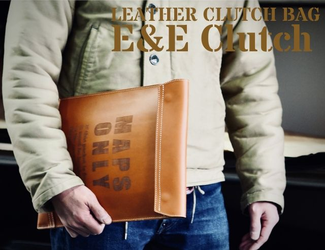 レザークラッチバッグ「E&E Clutch」