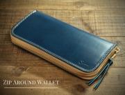重厚感、耐久性を重視した定番長財布!!ラウンドファスナーウォレット