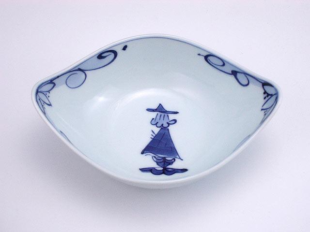 有田焼 青花 後姿舟型小鉢