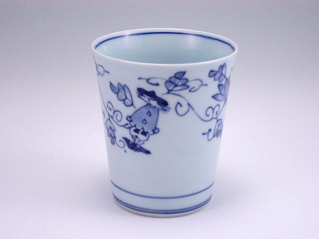 有田焼 青花 唐草異人ミルクカップ