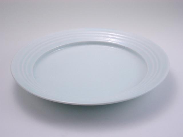 太白LAKTAK 8寸皿 しん窯 青花