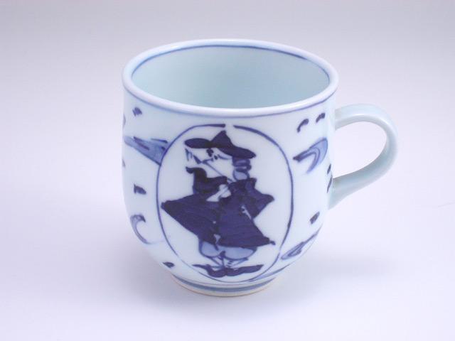 有田焼 青花 大航海ミニマグカップ