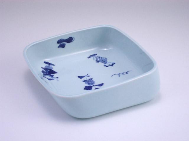 有田焼 青花 異人づくしすくい易い鉢
