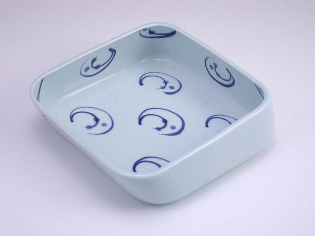 有田焼 青花 水草すくい易い鉢