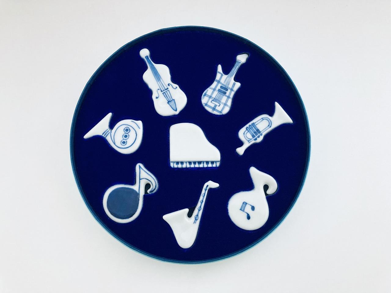 楽器箸置きセット しん窯青花