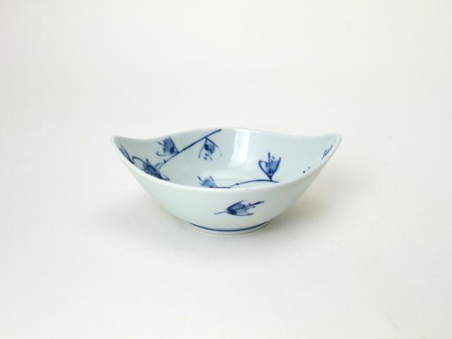 舟型中鉢 HANAKARAKUSA しん窯 青花