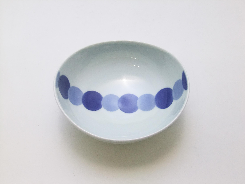 濃丸文楕円鉢 青花 匠