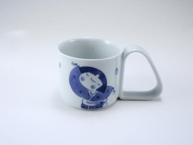 桜物語倒れにくいマグカップ(小) しん窯 青花