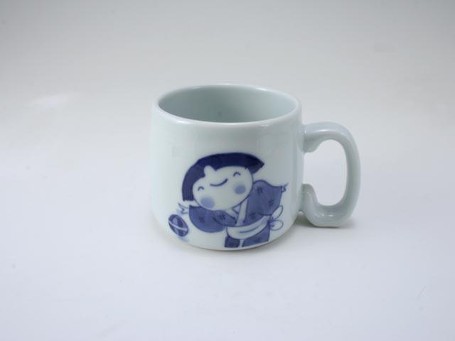 手まりうた子供用マグカップ しん窯 青花