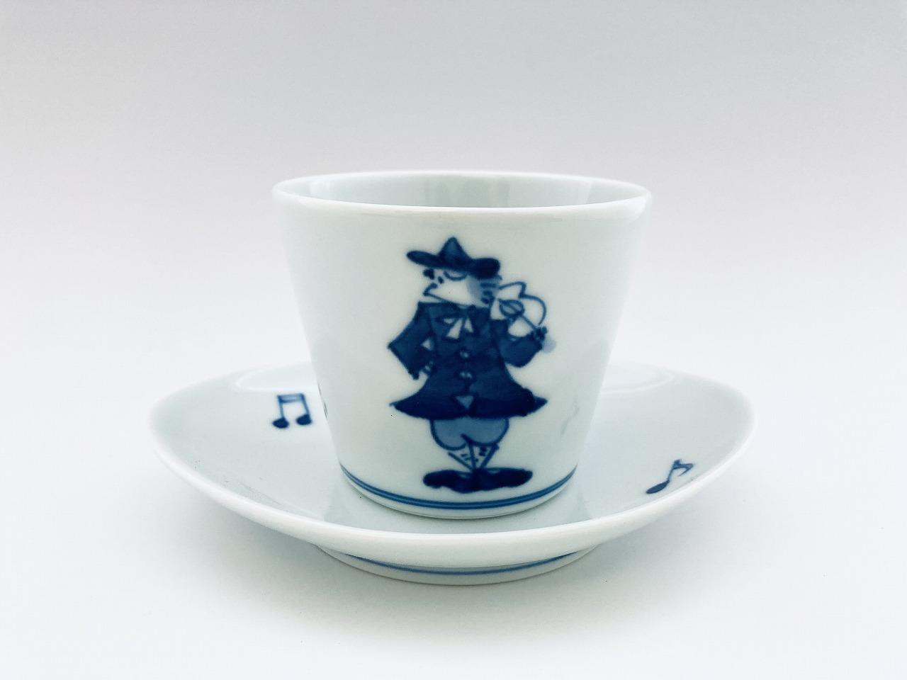 バイオリンカップ&ソーサー しん窯青花