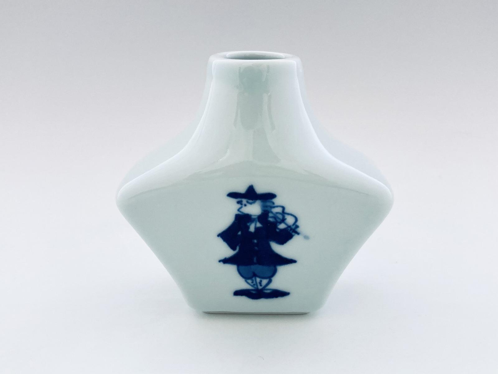 バイオリンとフルート出島型花瓶(小)