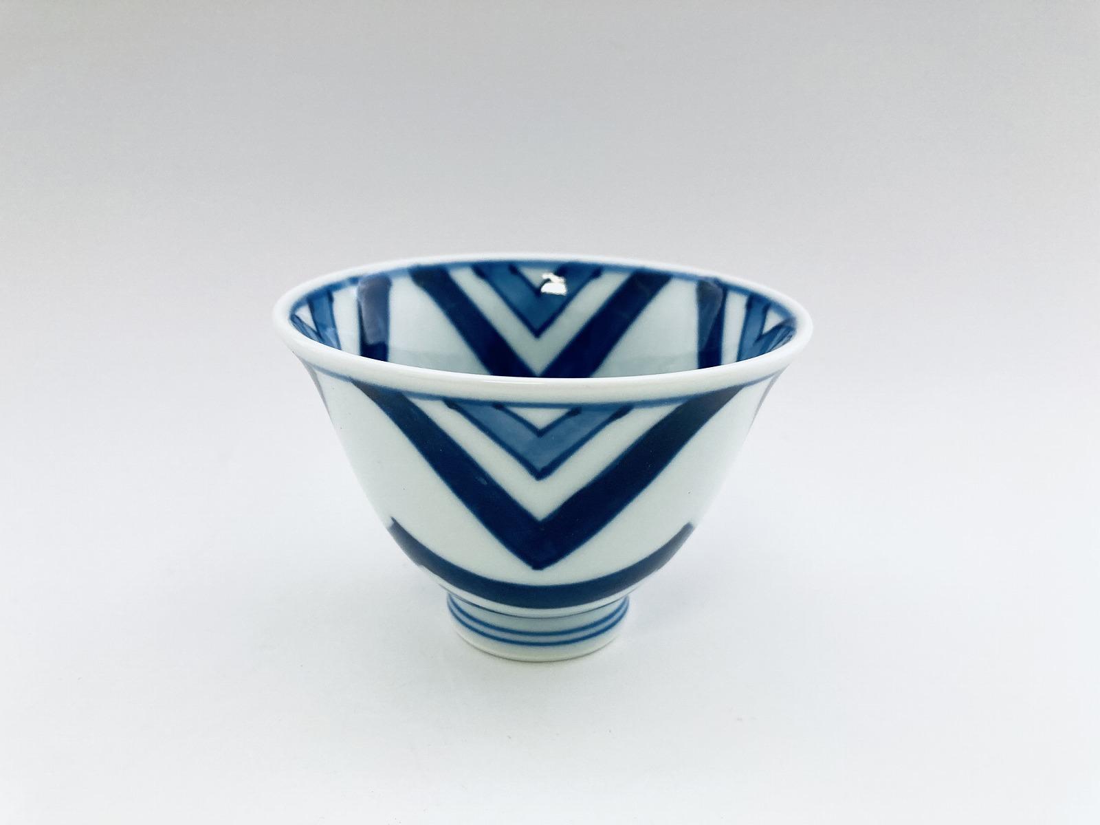 江戸紋百合型煎茶 しん窯 青花