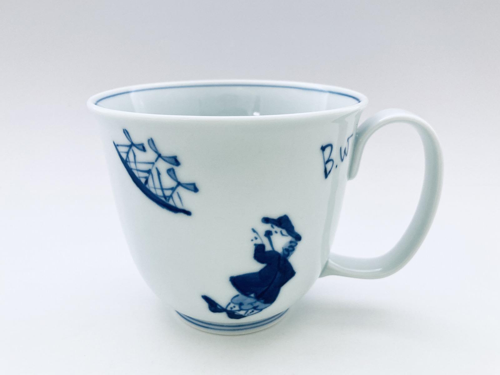 異人づくしフリーマグカップ(大)しん窯青花