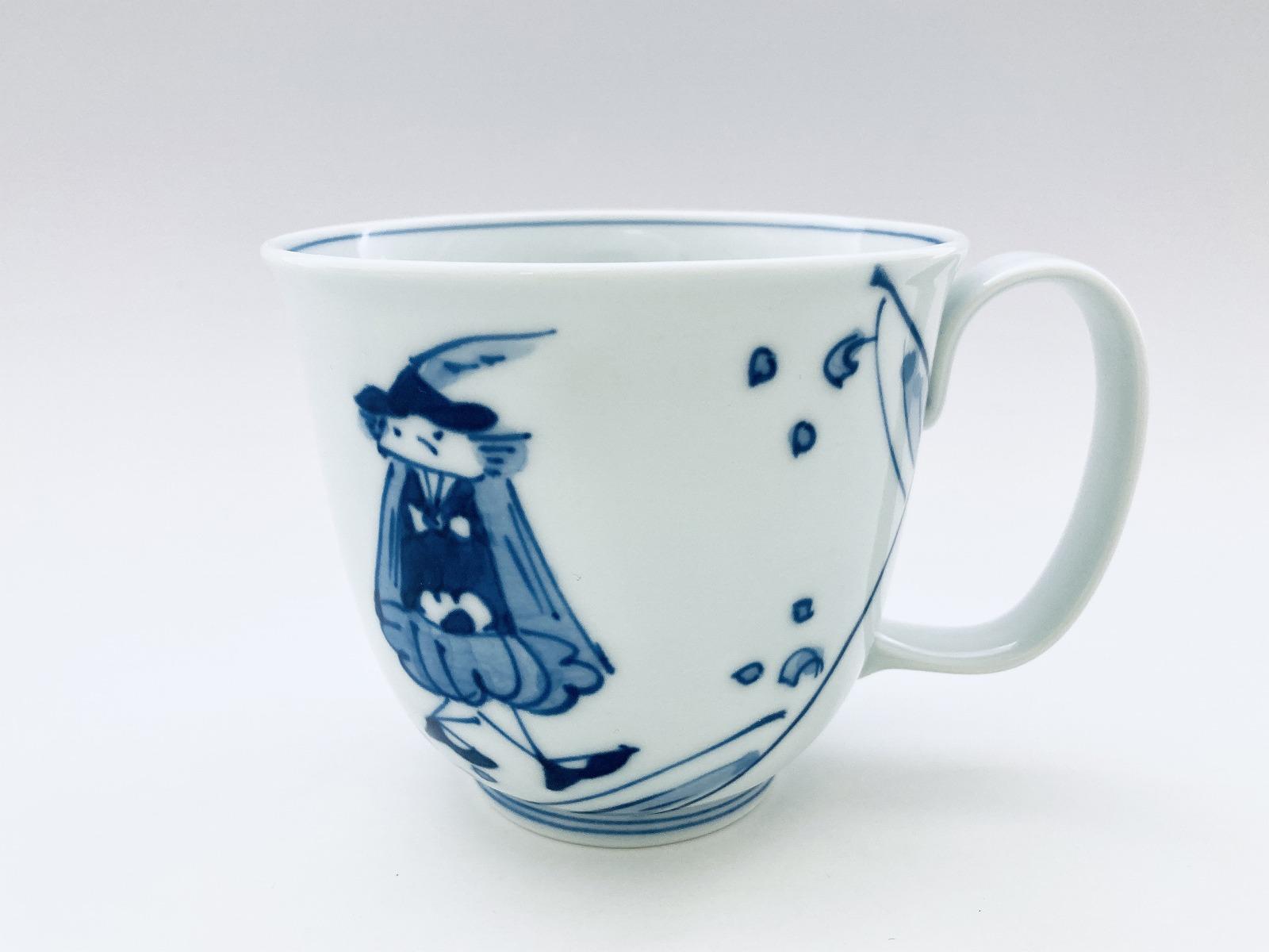 紅毛青花フリーマグカップ(大)しん窯青花