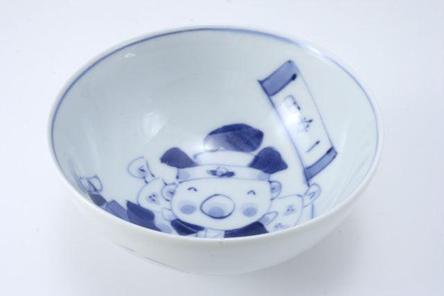 新桃太郎3.2寸丸飯碗 しん窯 青花