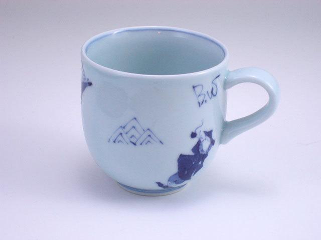 有田焼 青花 異人づくしミニマグカップ