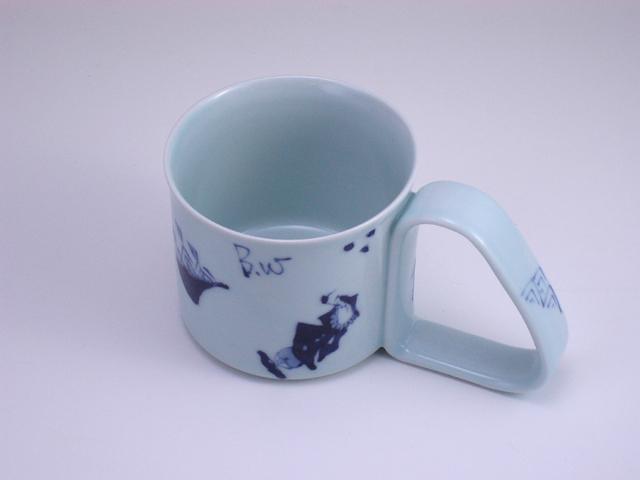 異人づくし倒れにくいマグカップ(小) しん窯 青花