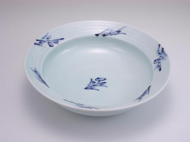 草花LAKTAK 7寸鉢 しん窯 青花