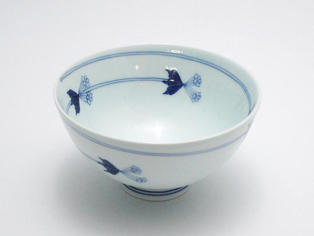 つるりんどう3.5寸丸飯碗 青花 匠