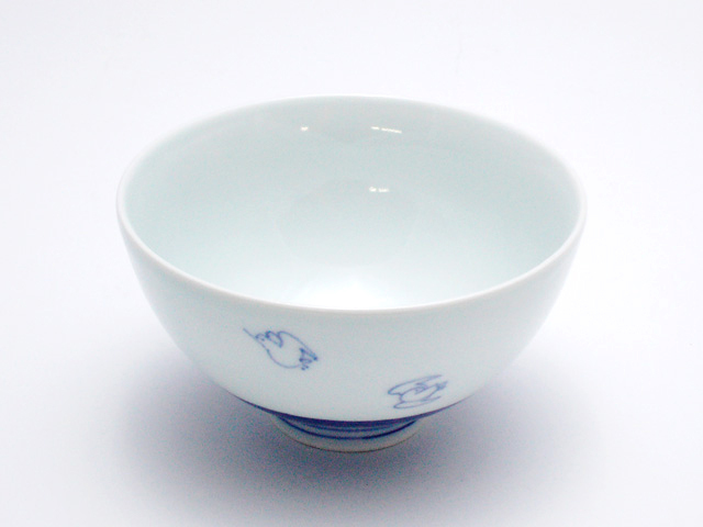 千鳥3.5寸丸飯碗 青花 匠
