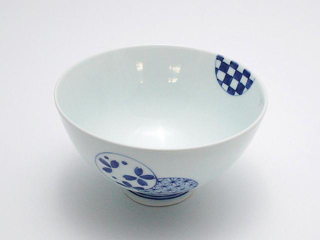 丸文3.5寸丸飯碗 青花 匠