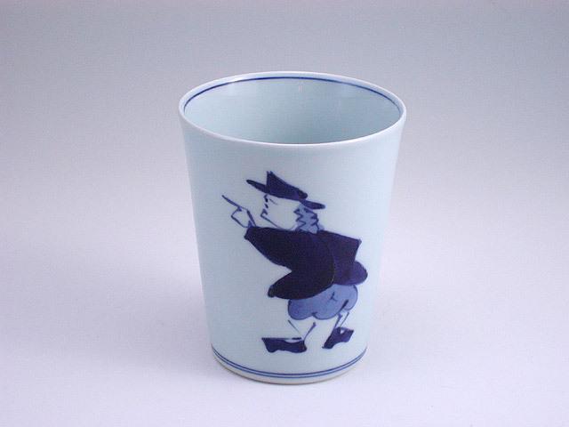 有田焼 青花 紅毛人ミルクカップ