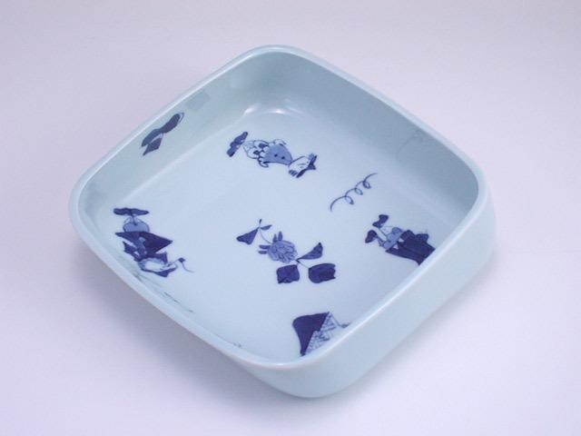 有田焼 青花 異人づくしすくい易い小鉢