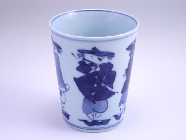 有田焼 青花 五人異人ミルクカップ