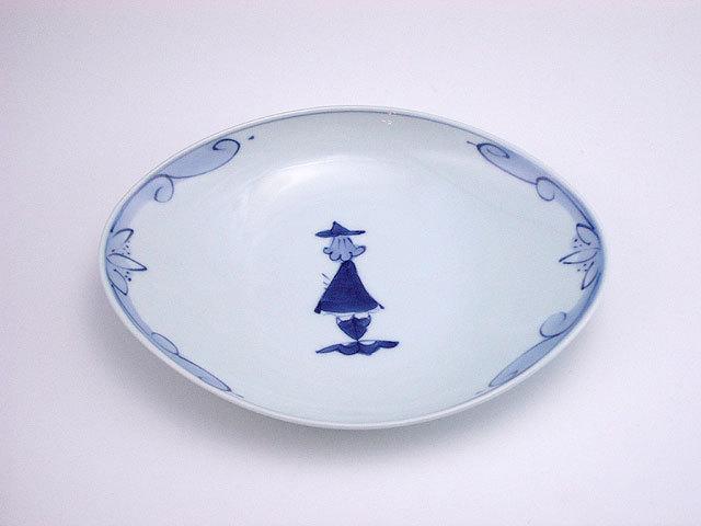 有田焼 青花 後姿舟型小皿