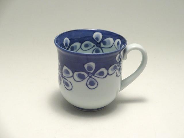 マグカップ HANATSUNAGI しん窯 青花
