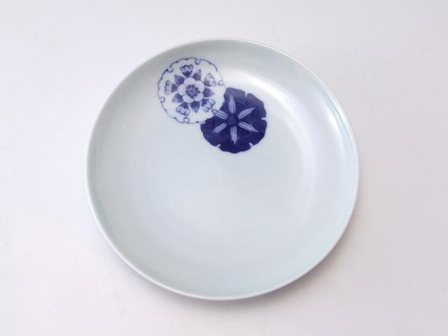 有田焼 青花匠 竹梅4.7寸皿