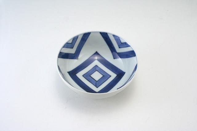 有田焼 青花 江戸紋4寸ボール