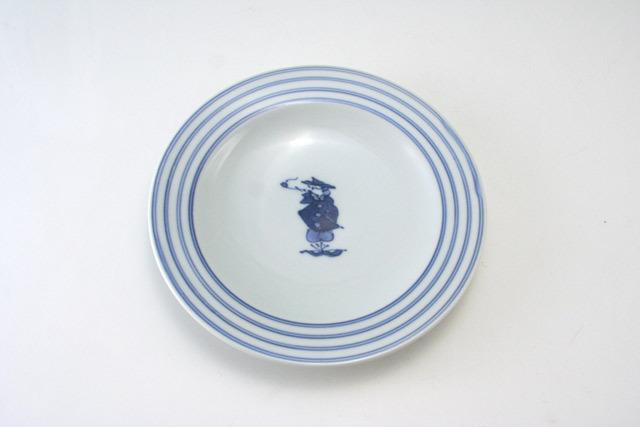 有田焼 青花 パイプ異人プチケーキ皿