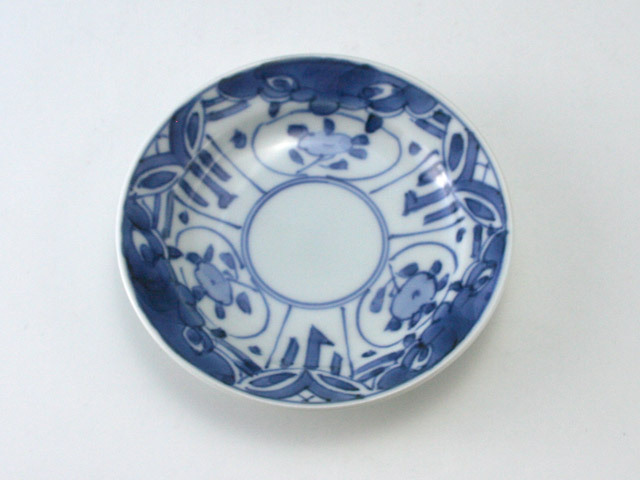 有田焼 青花 甲型小皿