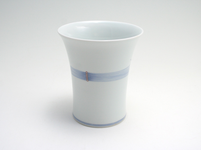 有田焼 青花匠 染錦稲穂フリーカップ