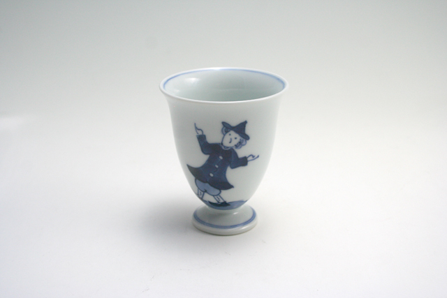 有田焼 青花 うかれ異人ワインカップ