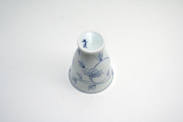 有田焼 青花 花唐草ワインカップ